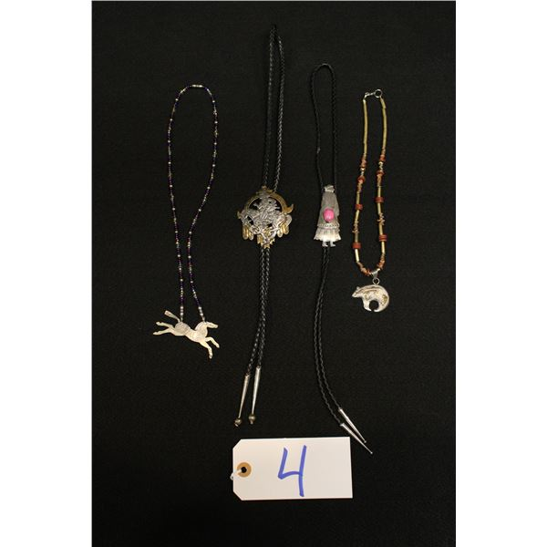 Native American Bolos And Necklaces
