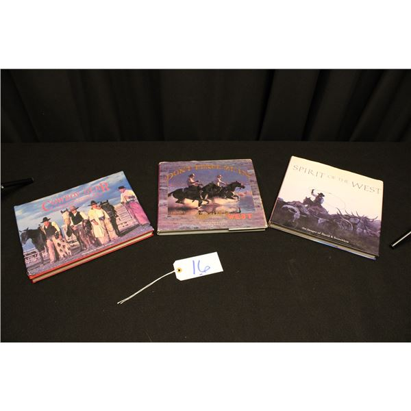 Set Of 3 Western Themed Books