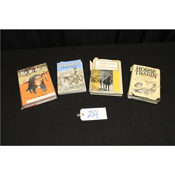 Set Of 4 Western Themed Books