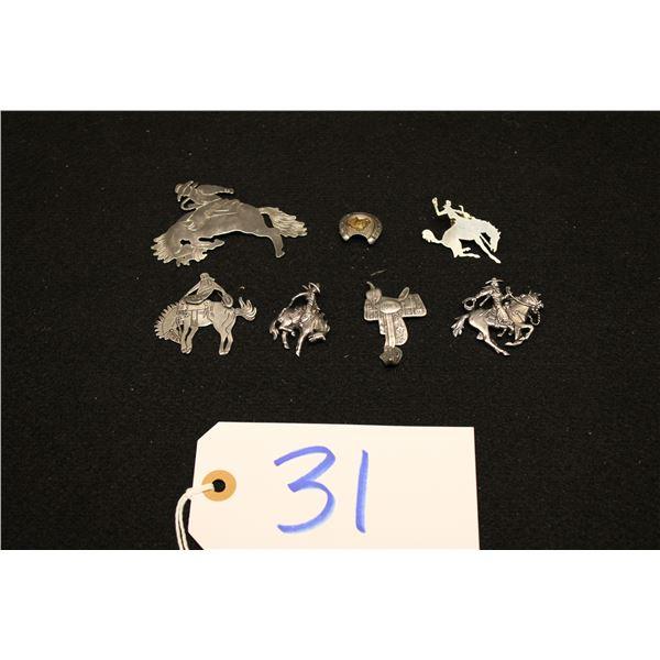 Set Of 7 Western Pins