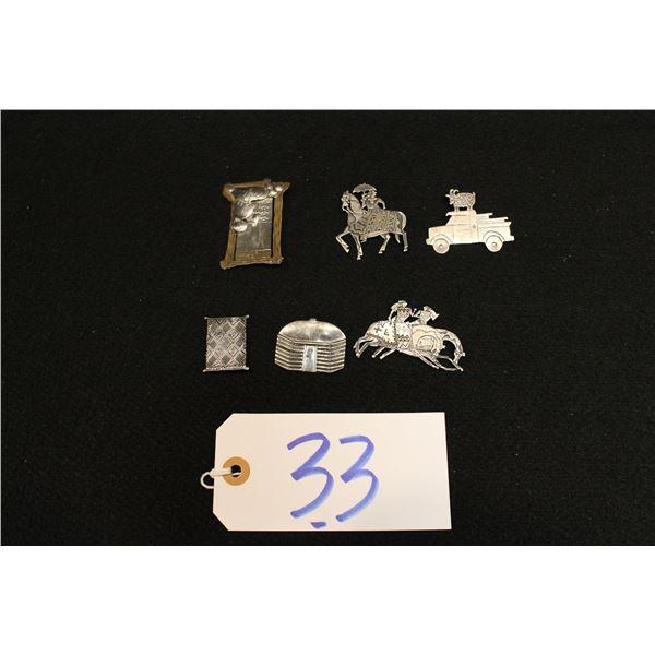 Set Of 6 Navajo Silver Pins And Broaches