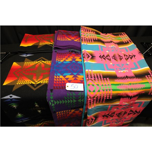 Set Of 3 Pendleton Blankets