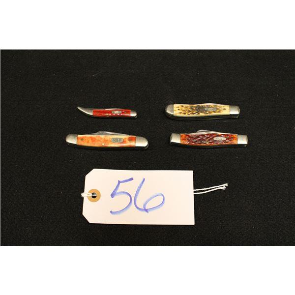 Set Of 4 Case Pocket Knives