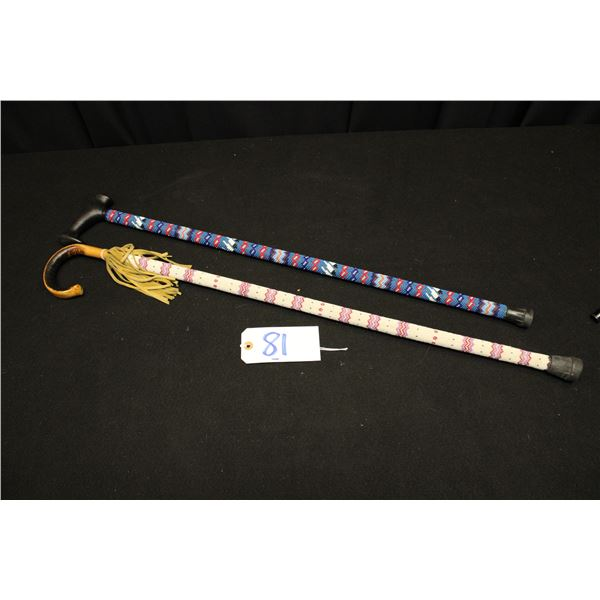 Native American Beaded Canes