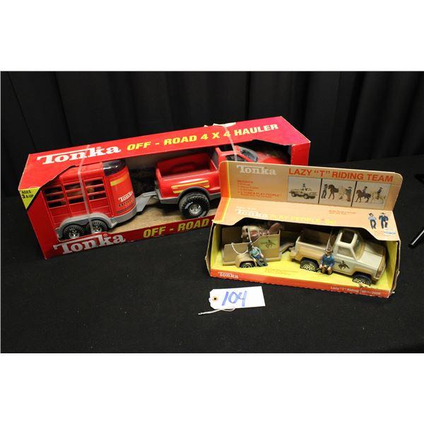 Pickup and Horse Trailer Tonka Toys