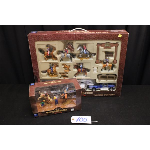 New In Box Western Rodeo Playset