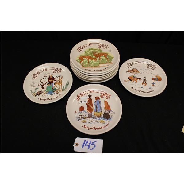 Navajo Christmas Plates