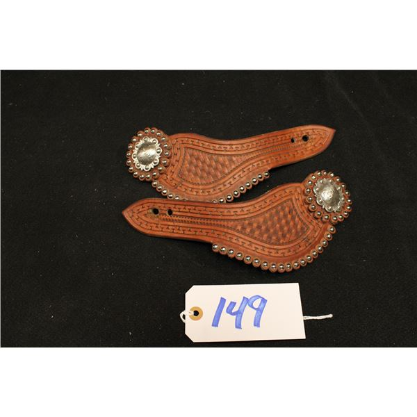 Leather Studed Spur Straps With Conchos