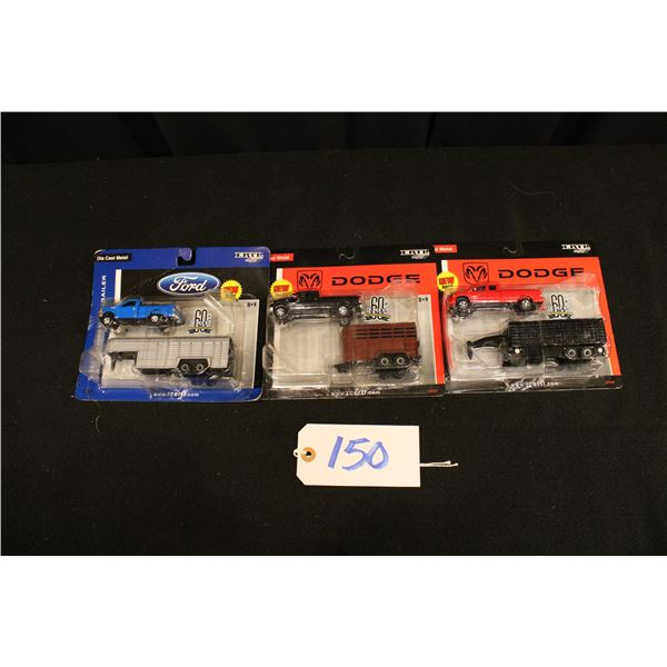 New In Box ERTL Pickups With Trailers