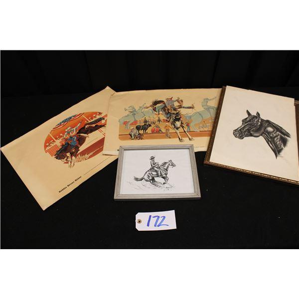 Barbara McLean Drawings And Heston NFR Prints