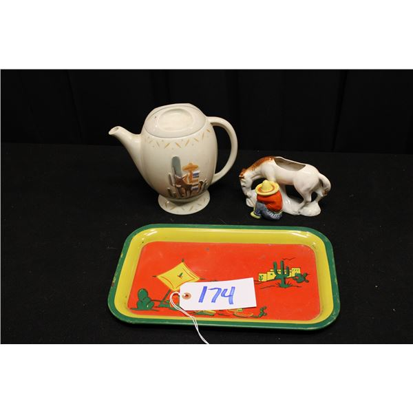 Mexican Themed Potter And Tinware