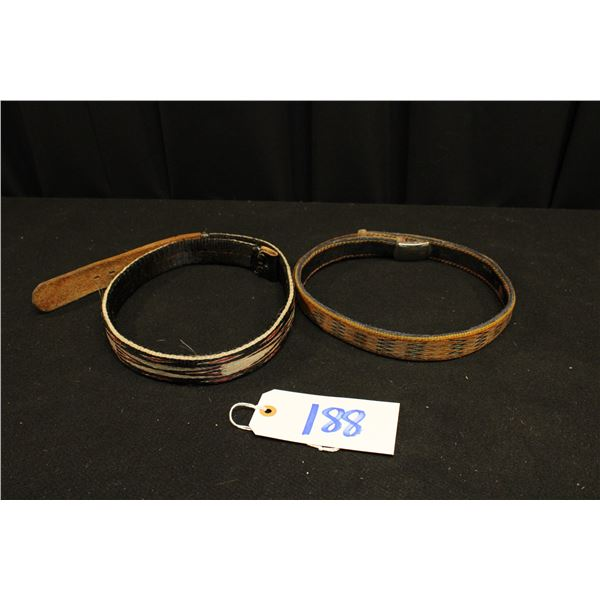 Two Horse Hair Belts