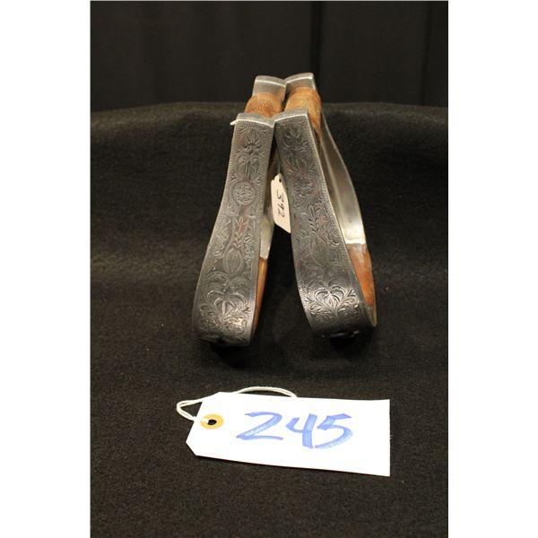 Engraved Aluminum Stirrups