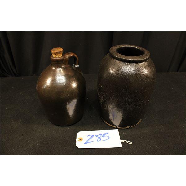Brown Jug and Brown Pottery