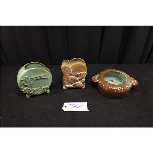 Three Francoma Pottery Planters