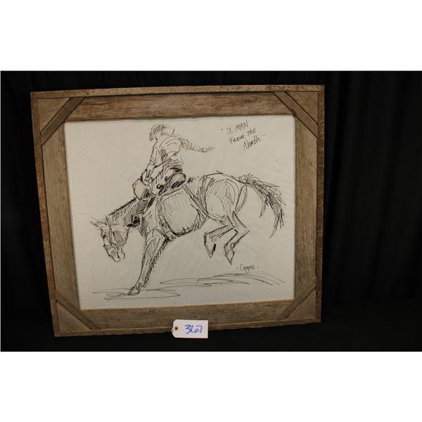 Paul Crites Pencil Drawing of Frank Beard