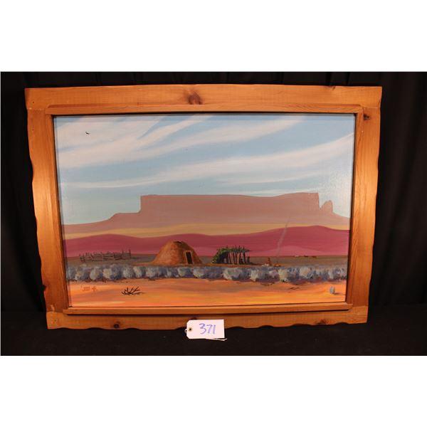 James Cody Navajo Oil Painting