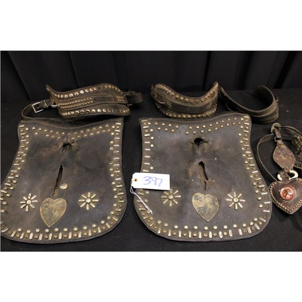 Silver Studded Draft Horse Harness