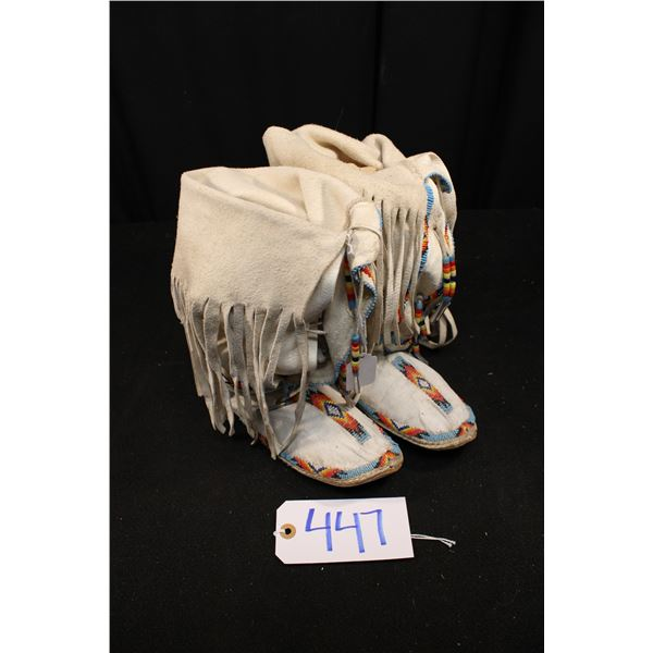 Plateau Beaded High Top Moccasins