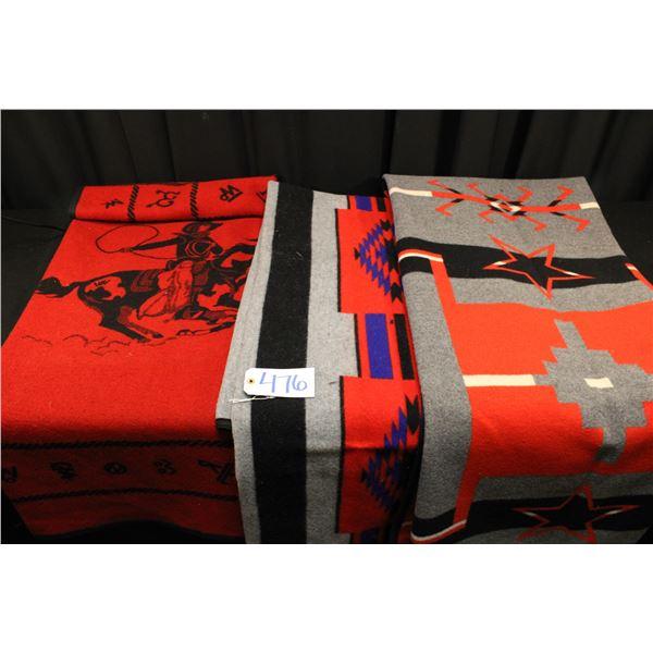 Set Of Three Pendleton Blankets