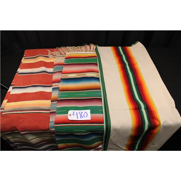 Vintage Serape Style Blankets