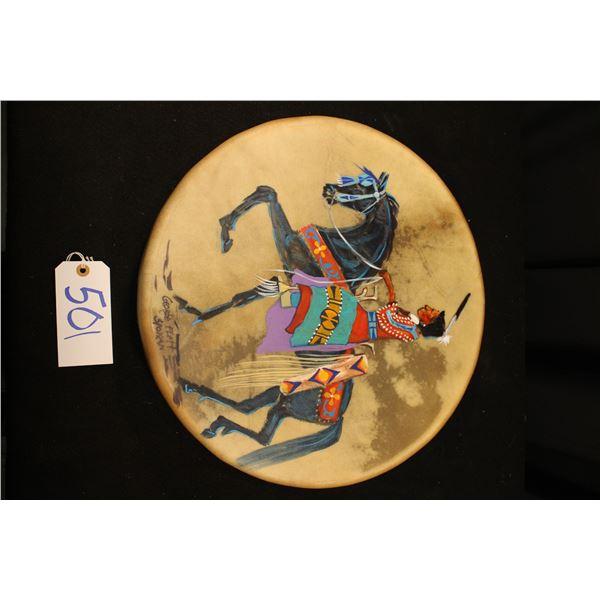 George Flett Painted Drum