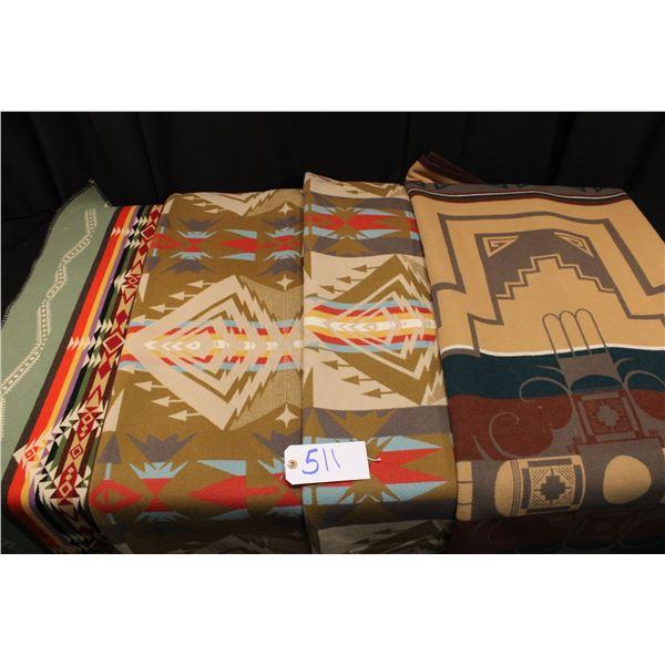 Set Of Four Pendleton Blankets