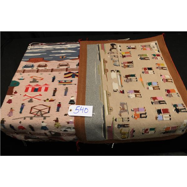 Set Of Two Navajo Pictorial Rugs