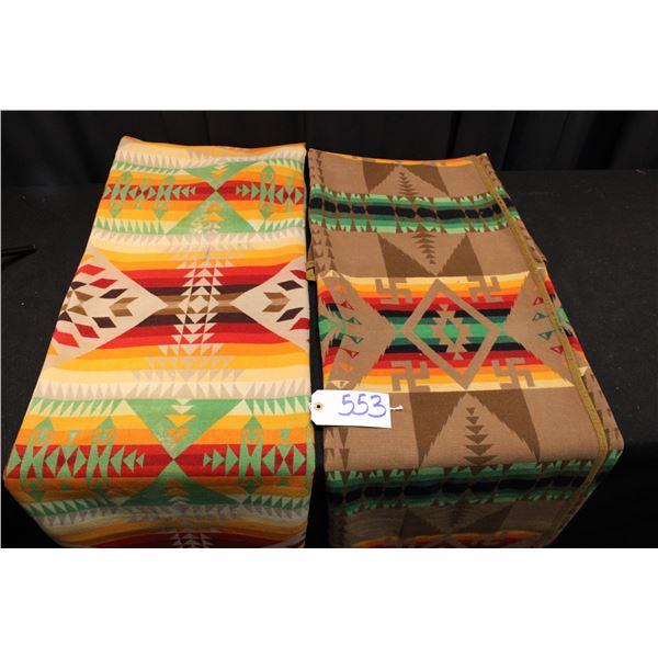 Set Of Two Vintage Pendleton Blankets