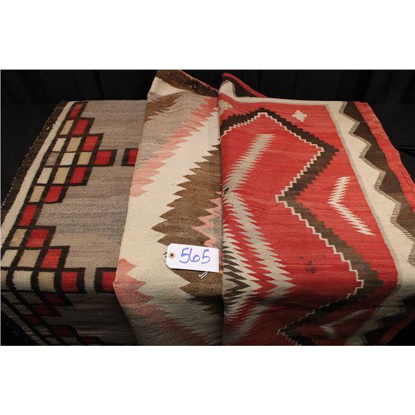 Set Of Three Vintage Navajo Rugs