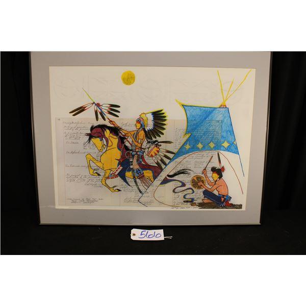 George Flett Artist Proof Of Ledger Paintings