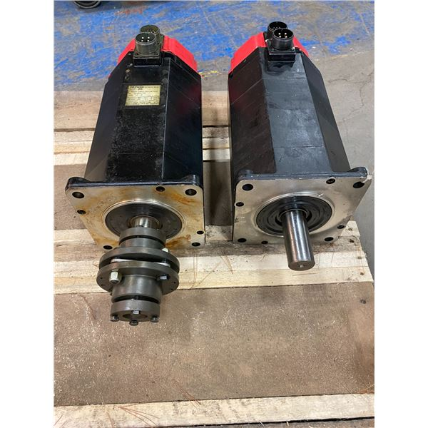 (2) - Fanuc A06B-0502-B072#7000 Model 20S AC Servo Motors