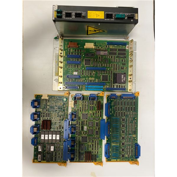 Lot of Fanuc Boards w/Power Supply (see pics)