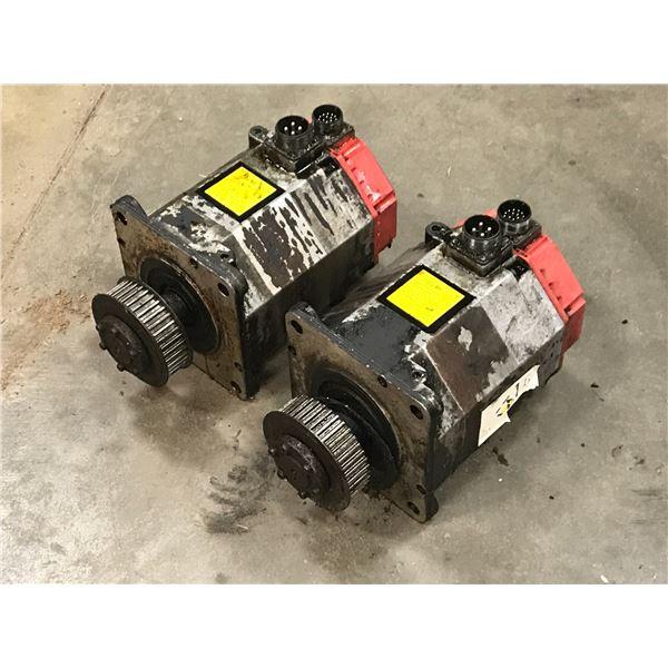 LOT OF (2) FANUC A06B-0143-B076 AC SERVO MOTOR