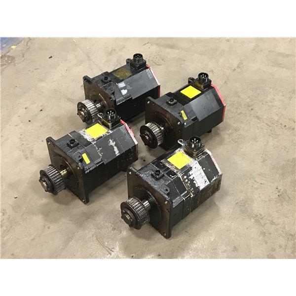 LOT OF (4) FANUC A06B-0243-B400 AC SERVO MOTOR
