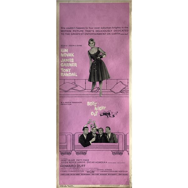 Boys' Night Out 1962 original vintage insert card