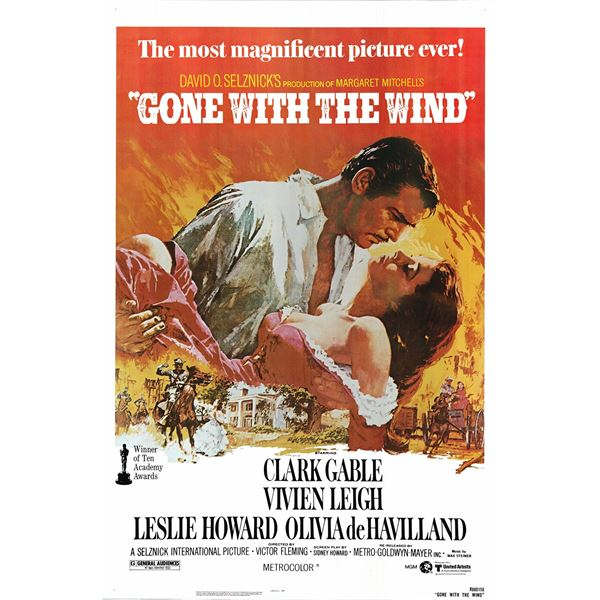 Gone With the Wind 1980 original vintage one sheet movie poster