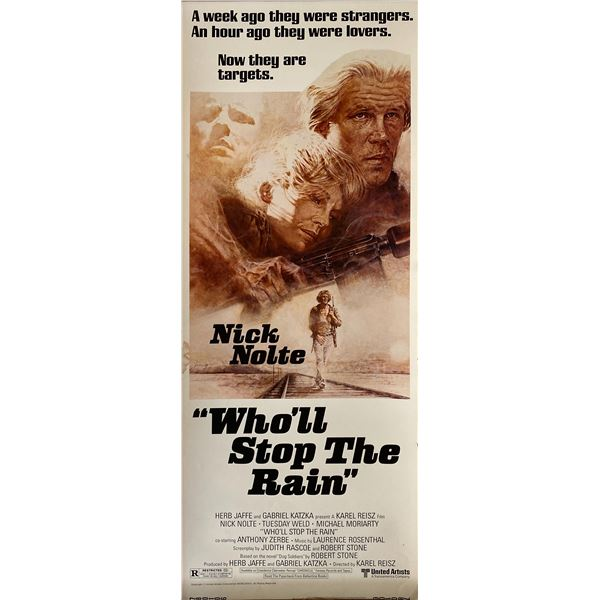 Who'll Stop the Rain 1978 original vintage insert card