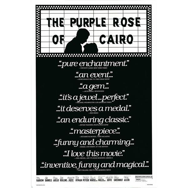 The Purple Rose of Cairo 1985 original vintage one sheet movie poster