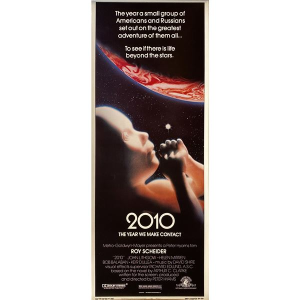 2010: The Year We Make Contact 1984 original vintage insert card