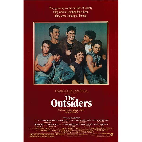 The Outsiders 1983 original vintage movie poster
