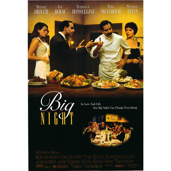 Big Night 1996 original one sheet poster