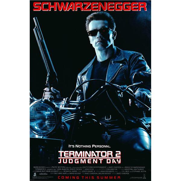 Terminator 2: Judgment Day 1991 original international one sheet movie poster
