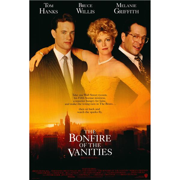 The Bonfire of the Vanities 1990 original movie poster