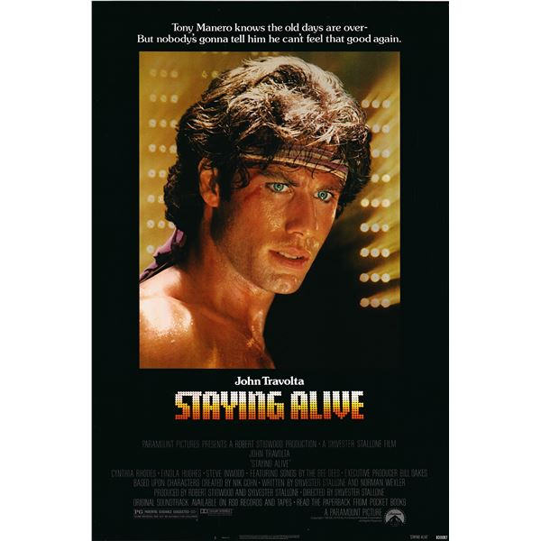 Staying Alive 1983 original vintage movie poster