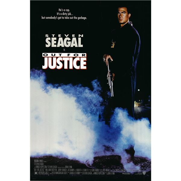 Out for Justice 1991 original one sheet movie poster