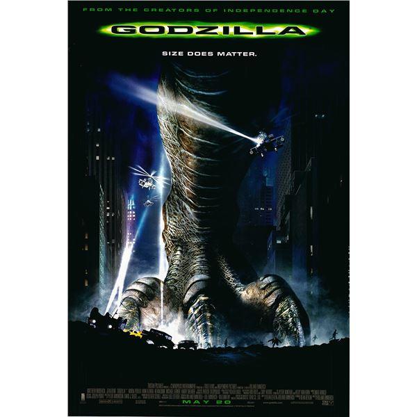 Godzilla 1998 original one sheet movie poster