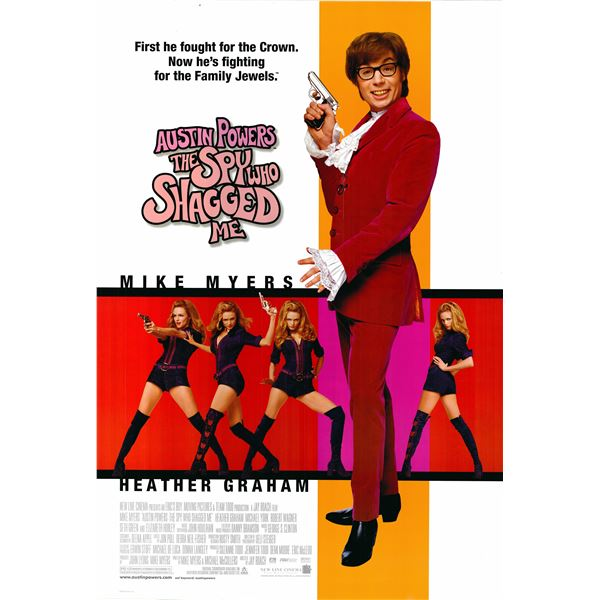 Austin Powers 2: The Spy who Shagged Me 1999 original one sheet poster