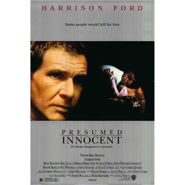 Presumed Innocent 1990 original movie poster