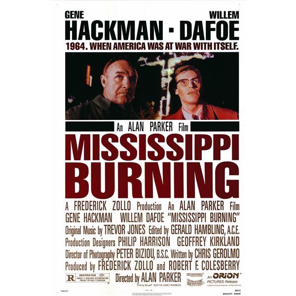 Mississippi Burning 1988 original one sheet movie poster